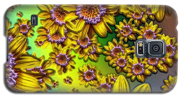 Crazy Daisies Galaxy S5 Case by Nick Kloepping