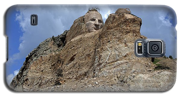 Galaxy S5 Case featuring the photograph Crazy Horse by Jerry Cahill