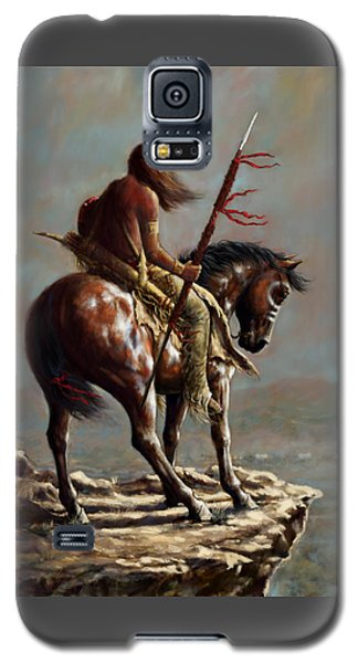 Galaxy S5 Case featuring the painting Crazy Horse_digital Study by Harvie Brown