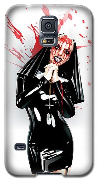 Crazy Nun Galaxy S5 Case by Brian Gibbs