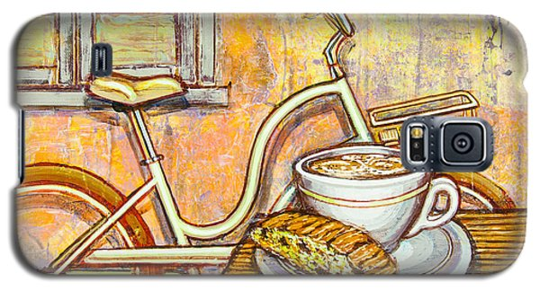 Cream Electra Town Bicycle With Cappuccino And Biscotti Galaxy S5 Case