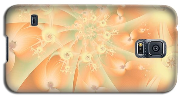Galaxy S5 Case featuring the digital art Creamsicle Mint by Michelle H