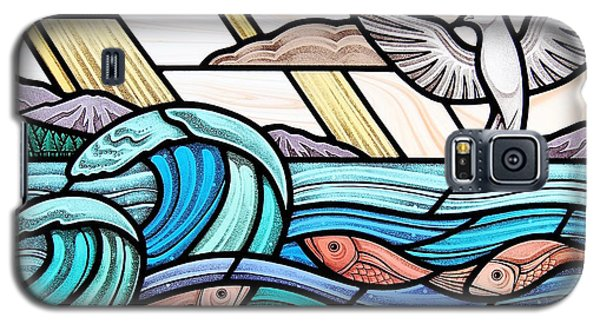 Creation Of The Sea And Sky Galaxy S5 Case by Gilroy Stained Glass