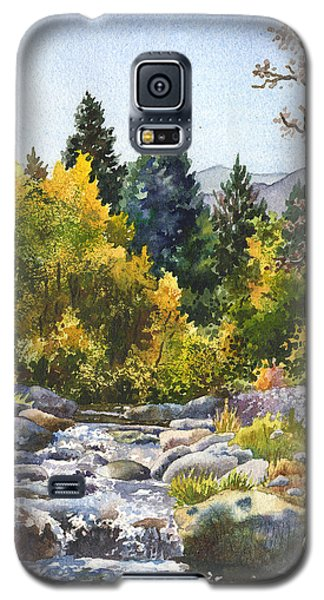 Galaxy S5 Case featuring the painting Creek At Caribou by Anne Gifford