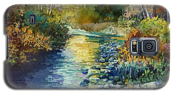 Galaxy S5 Case featuring the painting Creekside Tranquility by Hailey E Herrera
