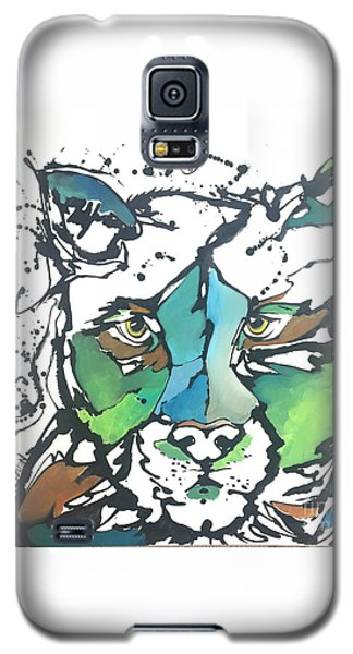 Galaxy S5 Case featuring the painting Creep by Nicole Gaitan