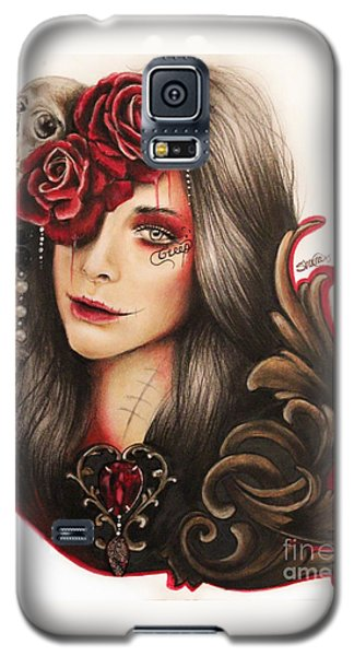Galaxy S5 Case featuring the mixed media Creep  by Sheena Pike