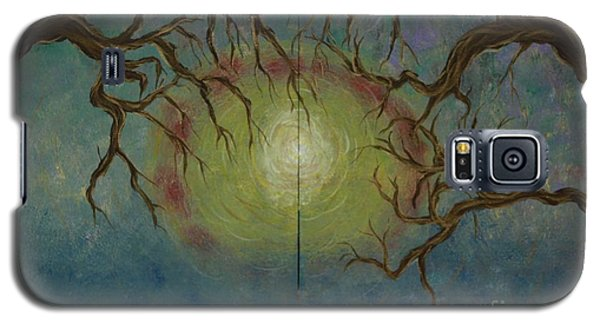 Galaxy S5 Case featuring the painting Creeping by Jacqueline Athmann