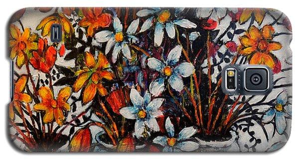 Crescendo Of Flowers Galaxy S5 Case