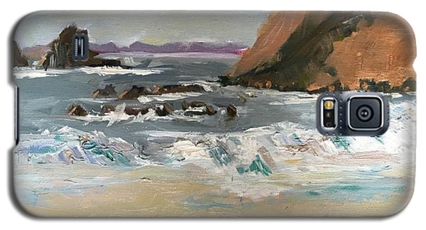 Galaxy S5 Case featuring the painting Crescent Beach At Laguna  by MaryAnne Ardito