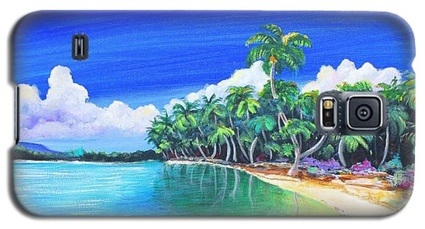 Galaxy S5 Case featuring the painting Crescent Beach by Patricia Piffath