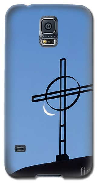 Crescent Moon And Cross Galaxy S5 Case
