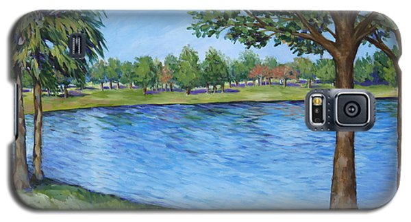 Galaxy S5 Case featuring the painting Crest Lake Park by Penny Birch-Williams