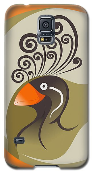 crestedAUKLET Galaxy S5 Case by Mariabelones ART