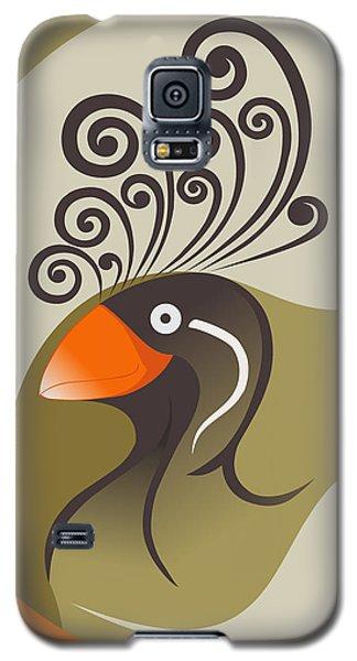 crestedAUKLET Galaxy S5 Case by Mariabelones ART