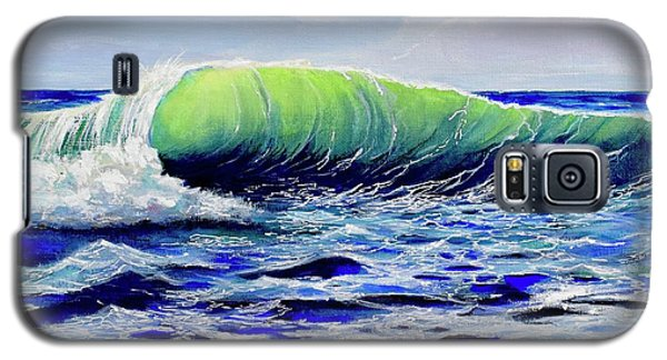 Galaxy S5 Case featuring the painting Cresting Wave by Mary Scott