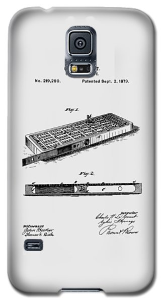 Cribbage Board 1879 Patent Art Transparent Galaxy S5 Case
