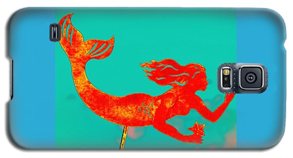 Crimson Mermaid Galaxy S5 Case