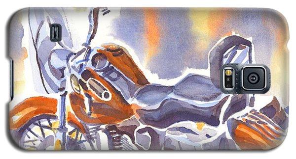 Crimson Motorcycle In Watercolor Galaxy S5 Case