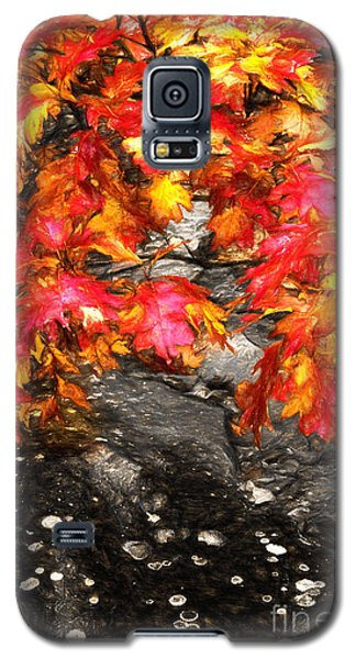 Galaxy S5 Case featuring the painting Crimson Splendor II by Dan Carmichael