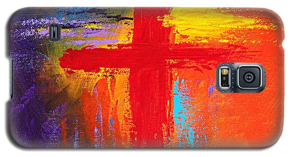 Galaxy S5 Case featuring the painting Cross by Kume Bryant