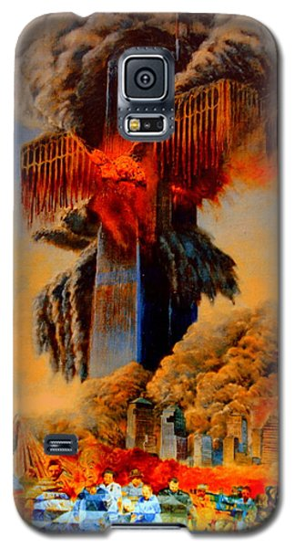 Galaxy S5 Case featuring the painting Cross Of The Third Millennium by Henryk Gorecki