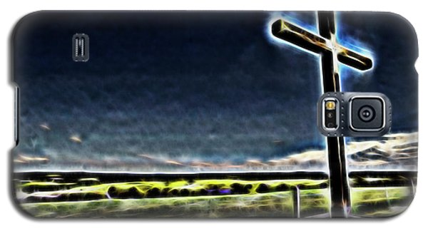 Galaxy S5 Case featuring the photograph Cross On The Hill by Douglas Barnard