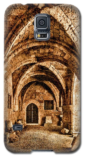 Galaxy S5 Case featuring the photograph Rhodes, Greece - Cross Vault by Mark Forte