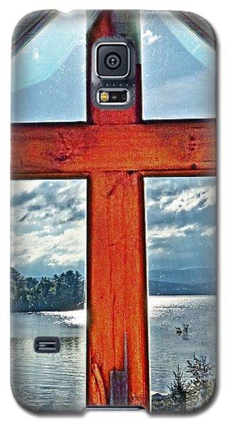 Cross Window Lake View  Galaxy S5 Case