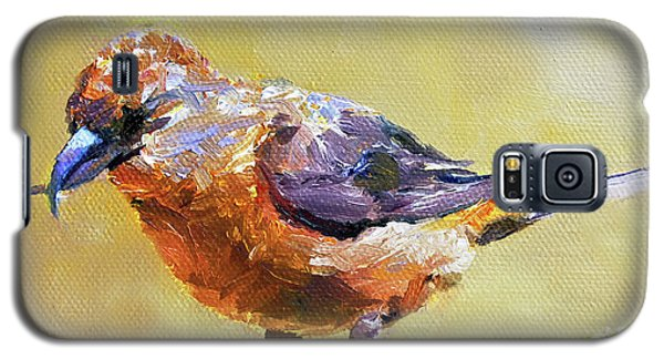 Crossbill Galaxy S5 Case by Jan Hardenburger