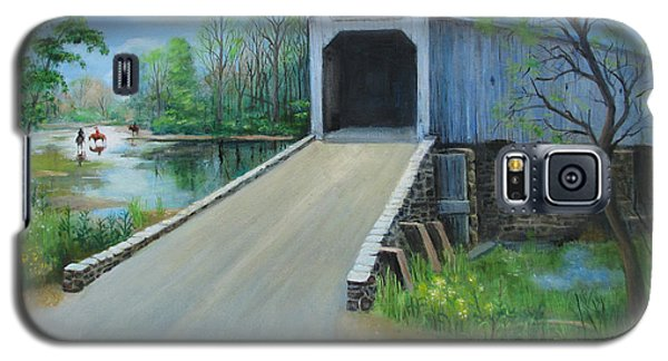 Crossing At The Covered Bridge Galaxy S5 Case