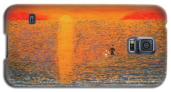 Galaxy S5 Case featuring the painting Crossing Over by Thomas Blood