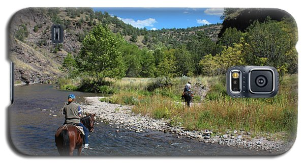 Crossing The Gila On Horseback Galaxy S5 Case