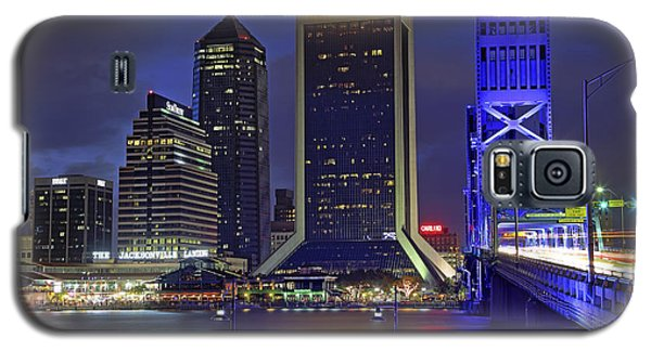 Crossing The Main Street Bridge - Jacksonville - Florida - Cityscape Galaxy S5 Case by Jason Politte