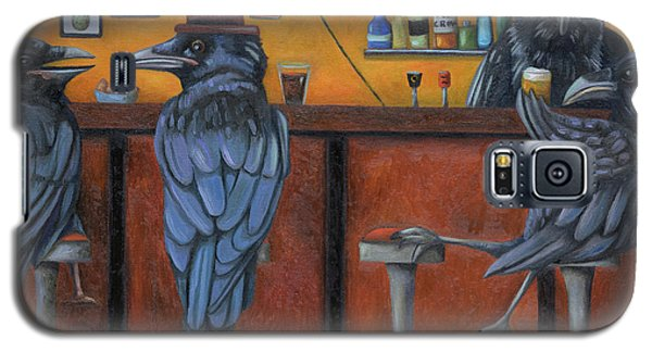 Galaxy S5 Case featuring the painting Crow Bar by Leah Saulnier The Painting Maniac