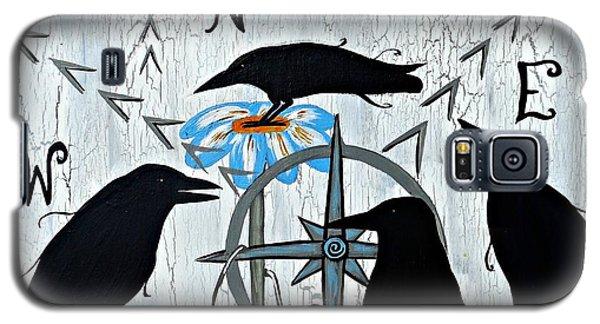 Crow Flowers Galaxy S5 Case