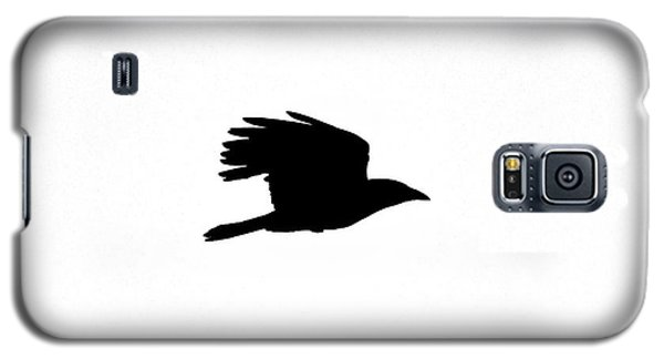 Crow In Flight Silhouette Galaxy S5 Case