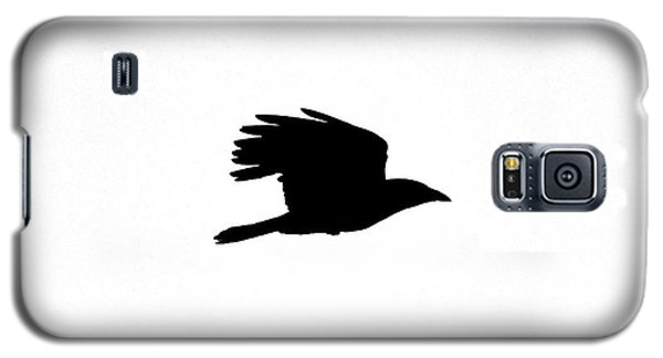 Crow In Flight Silhouette Galaxy S5 Case