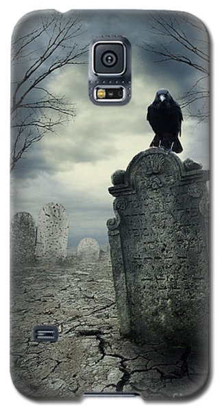 Crow On The Tombstone Galaxy S5 Case