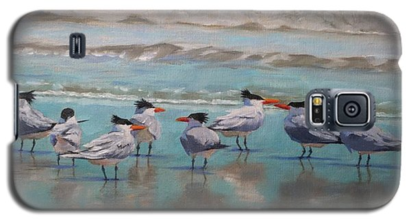 Galaxy S5 Case featuring the painting Crowd Control by Pam Talley
