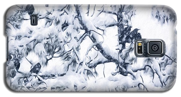 Crows In Snow Galaxy S5 Case