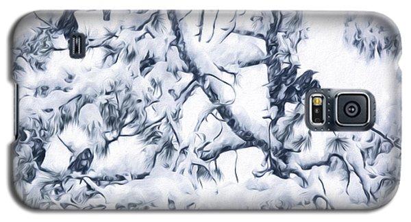 Crows In Snow Galaxy S5 Case