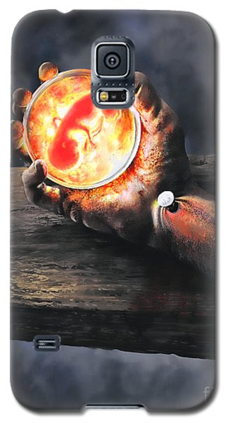 Galaxy S5 Case featuring the painting Crucifixion Version One Glen Concept by Dave Luebbert