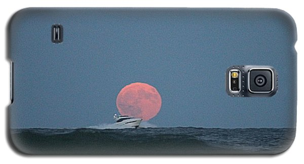 Cruising On A Wave During Harvest Moon Galaxy S5 Case