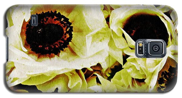 Galaxy S5 Case featuring the photograph Crumpled White Poppies by Sarah Loft