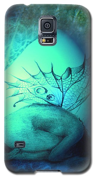 Galaxy S5 Case featuring the painting Crying Fairy by Ragen Mendenhall