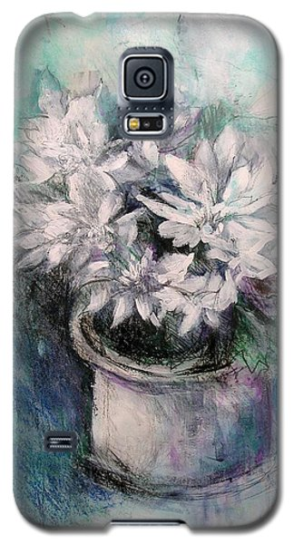 Galaxy S5 Case featuring the painting Crysanthymums by Chris Hobel