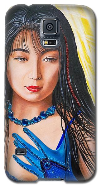 Crystal Blue China Girl Galaxy S5 Case by Sigrid Tune