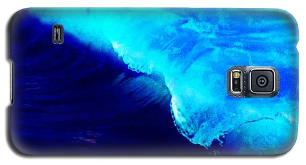 Galaxy S5 Case featuring the painting Crystal Blue Wave Painting by Catherine Lott