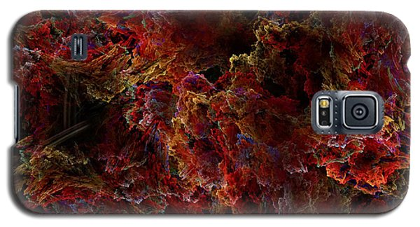 Galaxy S5 Case featuring the digital art Crystal Inspiration Number Two Close Up by Olga Hamilton